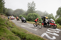 race leader Simon Geschke (DEU/CCC) up the very steep section (+16%) of the Mur de Péguère (Cat1/1375m/9.3km/7.9%)<br /> <br /> Stage 15: Limoux to Foix (185km)<br /> 106th Tour de France 2019 (2.UWT)<br /> <br /> ©kramon