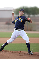 Tom Robson #47 of the Langley Blaze, a British Columbia Premier League team, pitches against a Seattle Mariners minor league team in an exhibition game at Peoria Sports Complex, the Mariners minor league complex, on March 22, 2011 in Peoria, Arizona..Photo by:  Bill Mitchell/Four Seam Images