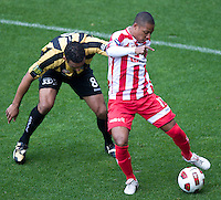 MELBOURNE, AUSTRALIA - SEPTEMBER 19, 2010: Alex Terra from the Heart controls the ball in Round 7 of the 2010 A-League between the Melbourne Heart and Wellington Phoenix at AAMI Park on September 19, 2010 in Melbourne, Australia. (Photo by Sydney Low / Asterisk Images)