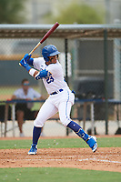 Diego Guzman (23) of the ACL Royals Blue during a game against the ACL Diamondbacks on September 17, 2021 at Surprise Stadium in Surprise, Arizona. (Tracy Proffitt/Four Seam Images)