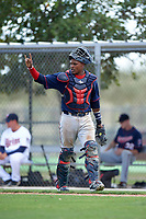 Minnesota Twins Brian Navarreto (13) during a minor league Spring Training intrasquad game on March 15, 2016 at CenturyLink Sports Complex in Fort Myers, Florida.  (Mike Janes/Four Seam Images)