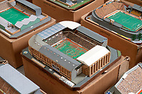 BNPS.co.uk (01202 558833)<br /> Pic: Zachary Culpin/BNPS<br /> <br /> Pictured: Leeds United's Elland Road<br /> <br /> An incredible collection of model football stadiums handmade by a soccer fan have sold for almost £19,000 after being found in a storage unit.<br /> <br /> Model-maker John Le Maitre created miniature versions of all 92 English Football League club grounds from the 1980s, as well as the old Wembley Stadium.<br /> <br /> They featured on a Blue Peter episode that year and are a throwback to a bygone age when football grounds with their banks of terraces looked very different to today's super stadiums.