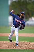 Minnesota Twins pitcher Ervin Santana (54) during a minor league Spring Training intrasquad game on March 15, 2016 at CenturyLink Sports Complex in Fort Myers, Florida.  (Mike Janes/Four Seam Images)
