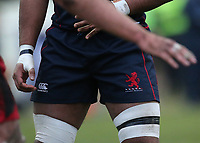 A general view of London Scottish kit shorts during the Greene King IPA Championship match between London Scottish Football Club and Jersey at Richmond Athletic Ground, Richmond, United Kingdom on 16 December 2017. Photo by Mark Kerton / PRiME Media Images.