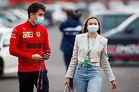 17th April 2021; Autodromo Enzo and Dino Ferrari, Imola, Italy; F1 Grand Prix of Emilia Romagna, Qualifying sessions; LECLERC Charles mco, Scuderia Ferrari SF21, with his girlfriend SINE Charlotte