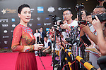 Charmaine Sheh during the Red Carpet event at the World Celebrity Pro-Am 2016 Mission Hills China Golf Tournament on 20 October 2016, in Haikou, China. Photo by Weixiang Lim / Power Sport Images