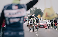 breakaway group at the feedzone<br /> <br /> 104th Tour de France 2017<br /> Stage 2 - Düsseldorf › Liège (203.5km)