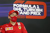 12th November 2020; Istanbul Park, Istanbul, Turkey;  FIA Formula One World Championship 2020, Grand Prix of Turkey, 5 Sebastian Vettel GER, Scuderia Ferrari Mission Winnow pre race press conference