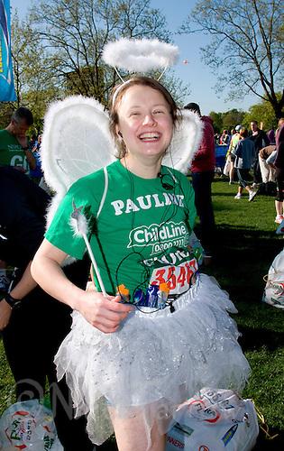 26 APR 2009 - LONDON,GBR - Pauline Salomons - London Marathon. (PHOTO (C) NIGEL FARROW)