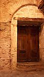 Old Wooden Doors - Old wooden doors in an access passage of Hagia Sophia (Aya Sofya) basilica, Sultanahmet, Istanbul, Turkey