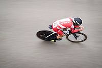 Eri Yonamine (JAP)<br /> <br /> Women Elite Time trial from Imola to Imola (31.7km)<br /> <br /> 87th UCI Road World Championships 2020 - ITT (WC)<br /> <br /> ©kramon