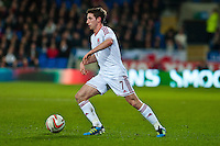 Wednesday 05 March 2014<br /> Pictured: Joe Allen<br /> Re: International friendly Wales v Iceland at the Cardiff City Stadium, Cardiff,Wales UK