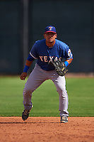 Texas Rangers Jose Trevino (71) during an instructional league game against the Arizona Diamondbacks on October 10, 2015 at the Salt River Fields at Talking Stick in Scottsdale, Arizona.  (Mike Janes/Four Seam Images)