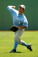 North Carolina Tar Heels' 2B/OF Garrett Gore in action vs. the Boston College Eagles  at Shea Field May 16, 2009 in Chestnut Hill, MA (Photo by Ken Babbitt/Four Seam Images)