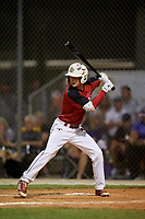 JJ Woolwine during the WWBA World Championship at the Roger Dean Complex on October 19, 2018 in Jupiter, Florida.  JJ Woolwine is a second baseman from Fishers, Indiana who attends Fishers High School and is committed to Miami (OH).  (Mike Janes/Four Seam Images)