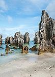 Phosphate pinnicles on the island of Nauru