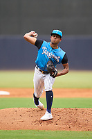 Tampa Tarpons pitcher Randy Vasquez (3) during a game against the Bradenton Marauders on June 18, 2021 at George M. Steinbrenner Field in Tampa, Florida.  (Mike Janes/Four Seam Images)