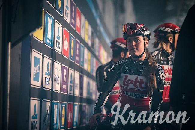 Lotto Soudal ladies pre race<br /> <br /> 12th Women's Omloop Het Nieuwsblad 2020 (BEL)<br /> Women's Elite Race <br /> Gent – Ninove: 123km<br /> <br /> ©kramon
