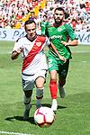 Rayo Vallecano Alvaro Garcia and Deportivo Alaves Ruben Duarte during La Liga match between Rayo Vallecano and Deportivo Alaves at Estadio de Vallecas in Madrid, Spain. September 22, 2018. (ALTERPHOTOS/Borja B.Hojas)