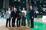 DENTON, TX - MARCH 7: North Texas Mean Green Women's Basketball v University of Texas El Paso at Super Pit - North Texas Coliseum on March 7, 2020 in Denton, Texas.