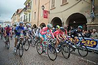 2013 Giro d'Italia.stage 13: Busseto - Cherasco ..Peloton leaving Busseto