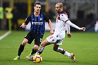 Cedric Soares of Inter , Rodrigo Palacio of Bologna <br /> Milano 03-02-2019 Stadio San Siro Football Serie A 2018/2019 Inter - Bologna    <br /> Foto Image Sport / Insidefoto