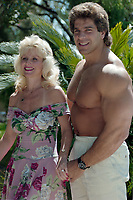 ARCHIVE: CANNES, FRANCE. c. May 1989: Lou Ferrigno & Carla Ferrigno at the Cannes Film Festival.<br /> File photo © Paul Smith/Featureflash