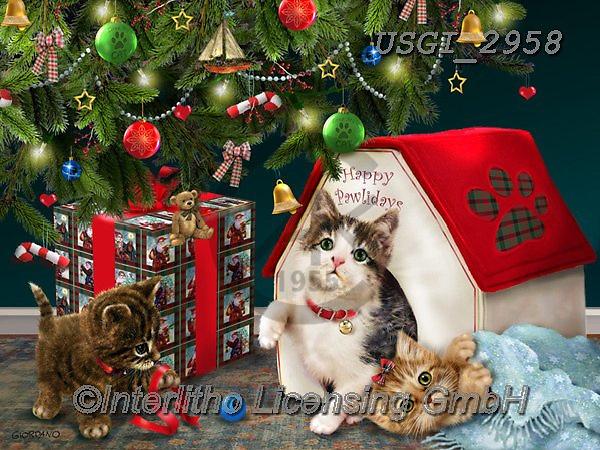 GIORDANO, CHRISTMAS ANIMALS, WEIHNACHTEN TIERE, NAVIDAD ANIMALES, paintings+++++,USGI2958,#xa#