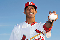 Mar 01, 2010; Jupiter, FL, USA; St. Louis Cardinals  pitcher Sam Freeman (90) during  photoday at Roger Dean Stadium. Mandatory Credit: Tomasso De Rosa/ Four Seam Images