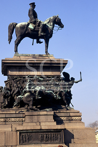 Sofia, Bulgaria. Statue of Alexander Nevsky mounted on a horse.