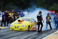 Aug. 5, 2011; Kent, WA, USA; NHRA pro stock driver Rodger Brogdon during qualifying for the Northwest Nationals at Pacific Raceways. Mandatory Credit: Mark J. Rebilas-