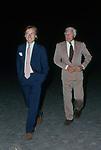 GIANNI AGNELLI CON LUCA CORDERO DI MONTEZEMOLO<br /> CONCERTO FRANK SINATRA - PALEUR ROMA 1987