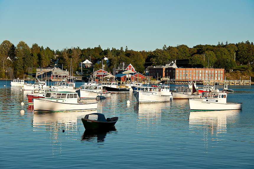 Boats, Bass Harbor, Maine, ME, USA