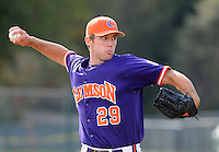October 25, 2009: David Haselden of the Clemson Tigers in an intra-squad Orange and Purple scrimmage game at the end of fall practice at Doug Kingsmore Stadium in Clemson, S.C. Photo by: Tom Priddy/Four Seam Images