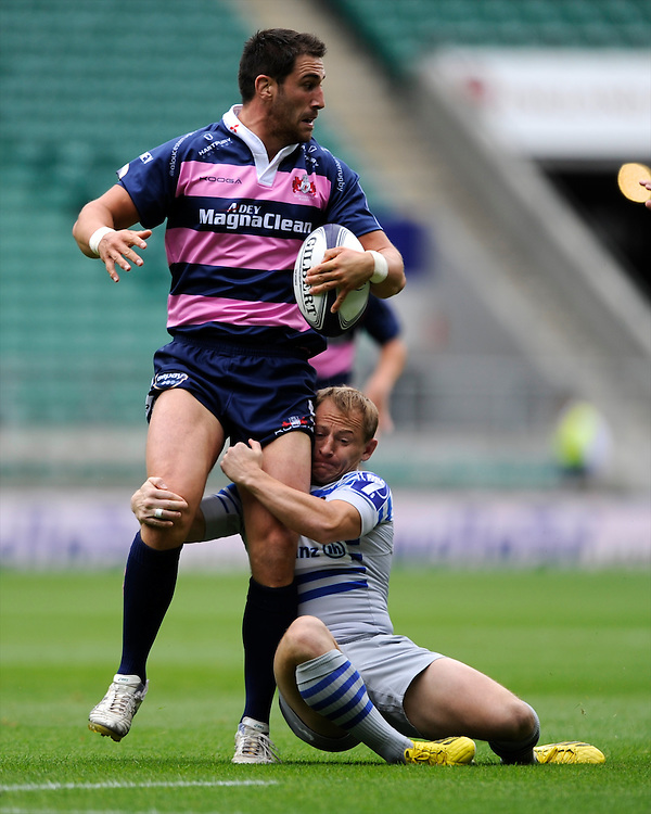 Matt Cox of Gloucester Rugby 7s during the World Club 7s at Twickenham on Saturday 17th August 2013 (Photo by Rob Munro)