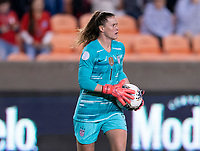 HOUSTON, TX - JANUARY 28: Alyssa Naeher #1 of the United States holds the ball during a game between Haiti and USWNT at BBVA Stadium on January 28, 2020 in Houston, Texas.
