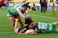 Sinead Toala-Ryder of the Wellington scores a try during the Farah Palmer Cup Rugby – Wellington v Manawatu at Sky Stadium, Wellington, New Zealand on Friday 25 September 2020. <br /> Photo by Masanori Udagawa. <br /> www.photowellington.photoshelter.com