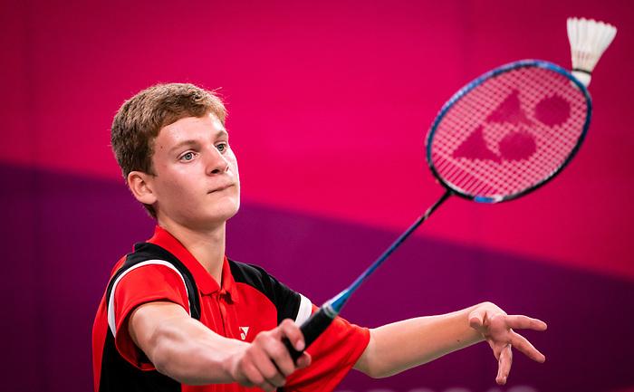 William Roussey, Lima 2019 - Para Badminton // Parabadminton.<br /> William Roussey competes in Para Badminton // William Roussey participe au parabadminton. 28/08/2019.