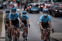 Team Astana pre race<br /> <br /> 7th La Course by Le Tour de France 2020<br /> 1 day race from Nice to Nice 96km<br /> ©kramon