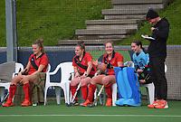 Canterbury 1 v South Canterbury. 2021 National Women's Under-18 Hockey Tournament day three at National Hockey Stadium in Wellington, New Zealand on Tuesday, 13 July 2021. Photo: Dave Lintott / lintottphoto.co.nz https://bwmedia.photoshelter.com/gallery-collection/Under-18-Hockey-Nationals-2021/C0000T49v1kln8qk