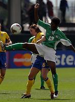 Nkiru Okosieme(Nigeria) v Malin Mostroem(Sweden) 2003 WWC Sweden vNigeria