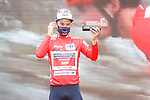 Kenny Elissonde (FRA) Trek-Segafred takes over the race leaders Red Jersey at the end of Stage 5 of La Vuelta d'Espana 2021, running 184.4km from Tarancón to Albacete, Spain. 18th August 2021.    <br /> Picture: Luis Angel Gomez/Photogomezsport   Cyclefile<br /> <br /> All photos usage must carry mandatory copyright credit (© Cyclefile   Luis Angel Gomez/Photogomezsport)
