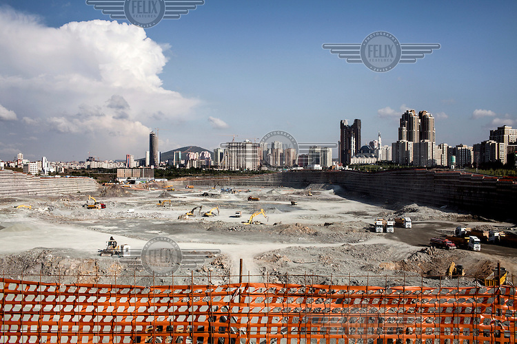 The construction site for the Instanbul International Financial Center being built in Atasehir on the Asian shore.