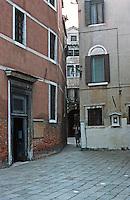 Venice:  a three minute walk--1.   Narrow passage off the Campo S. S. Postoli, near CA 'd 'Or.  Photo '83.
