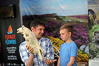 Pictured L-R: Rhodri Jones of Blaenau Gwent Council with Dylan Shepherd, 5. Saturday 13 August 2016<br />