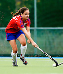 Mannheim, Germany, October 11: During the Regionalliga Damen Saison 2014/15 field hockey match between Feudenheimer HC and Wacker Muenchen on October 11, 2014 at the Mannheimer Hockey Club in Mannheim, Germany. Final score 4-1 (3-1). (Photo by Dirk Markgraf / www.265-images.com) *** Local caption ***