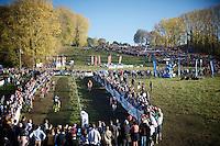 action on the Koppenberg<br /> <br /> Elite Men's race<br /> Koppenbergcross 2015