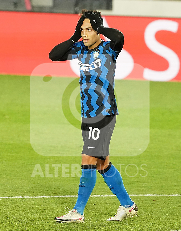 Football Club Internazionale Milano's Lautaro Martinez dejected during UEFA Champions League match. November 3,2020.(ALTERPHOTOS/Acero)