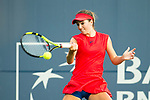 August 04, 2017: Catherine Bellis (USA) in action against Petra Kvitova (CZE) at the Bank of the West Classic being played at the Taube Tennis Stadium in Stanford, California. ©Mal Taam/TennisClix/CSM