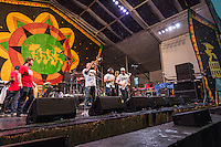 The Brassaholics Brass Band perform at Jazz Fest 2016.